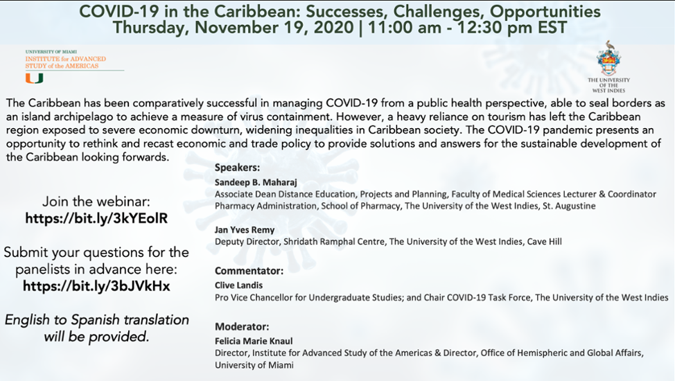 COVID19 in the Caribbean